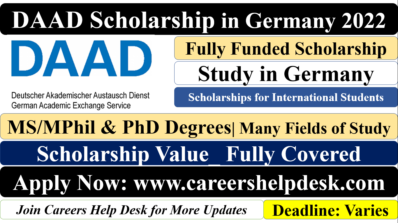 DAAD Scholarship in Germany 2022