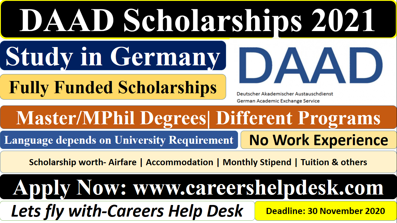 DAAD Scholarships 2021 in Germany-Study in Germany (Fully ...
