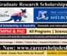 600 Melbourne Graduate Research Scholarships in Australia 2021- Study in Australia
