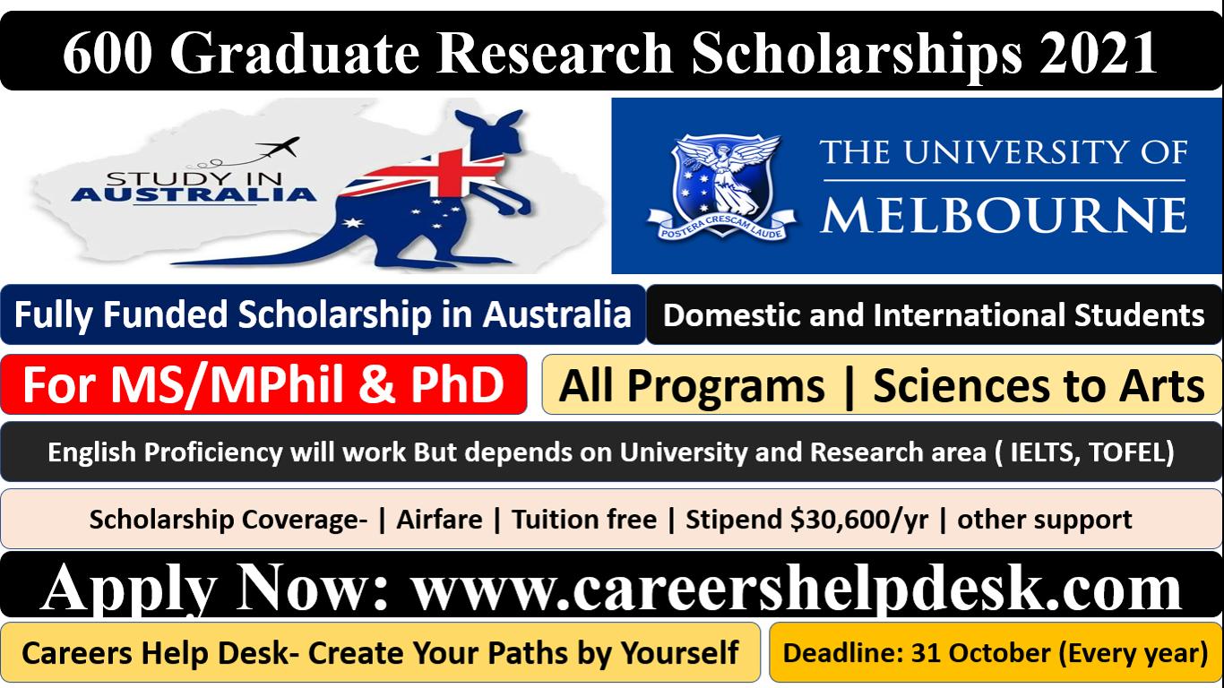 Graduate Research Scholarship in Australia