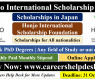 Honjo International Scholarship in Japan 2022 | Fully Funded