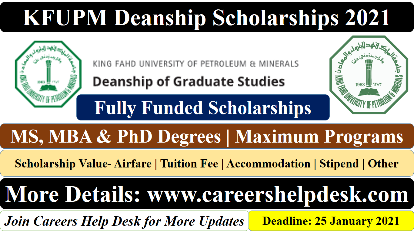 KFUPM Scholarships 2021 in Saudia Arabia