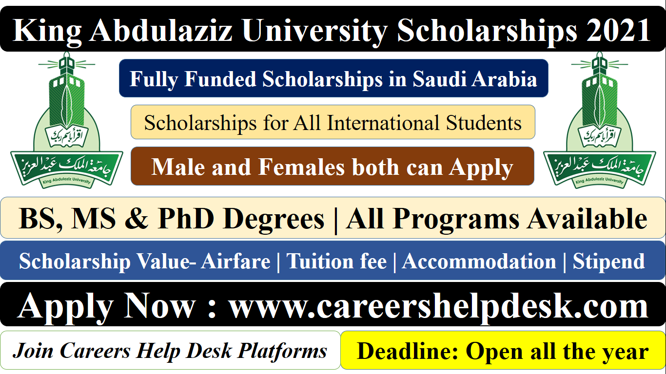 King Abdulaziz University Scholarships 2021