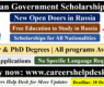 Russian Government Scholarship 2022 (Fully Funded)- Study in Russia