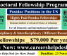 Postdoctoral Fellowship Program 2021 in the USA