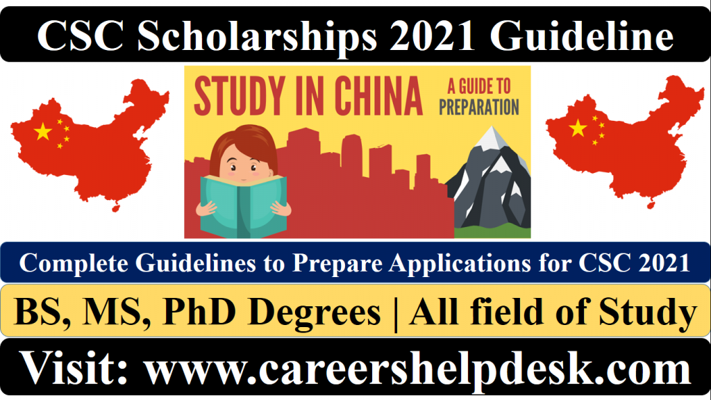 CSC Scholarships 2021 Guidelines | Study in China ...