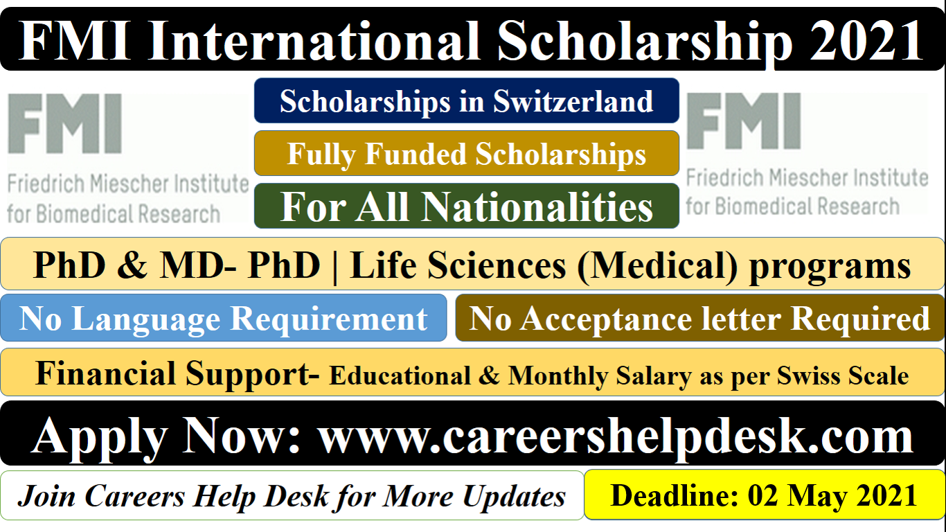 FMI International Scholarship in Switzerland 2021