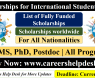 List of Fully Funded Scholarships for International Students to Study Abroad