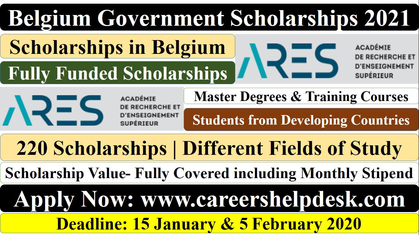 Scholarships in Belgium 2021