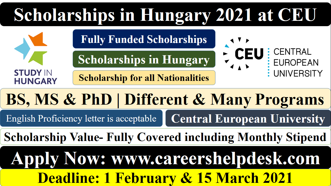 Scholarships in Hunary 2021 for International Students