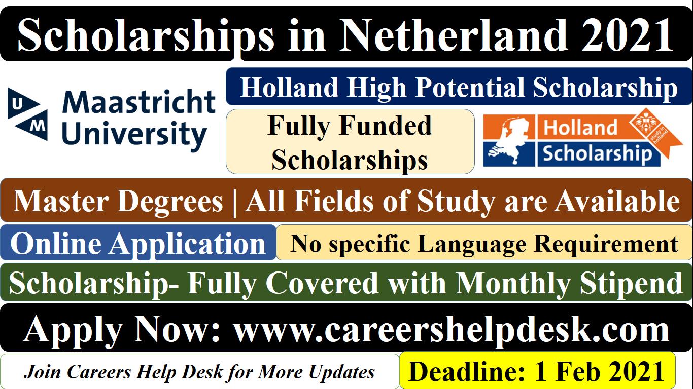 Netherland Scholarships 2021 For International Students ...