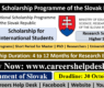 Government of Slovak Scholarships 2022 for International Students (Fully Funded)