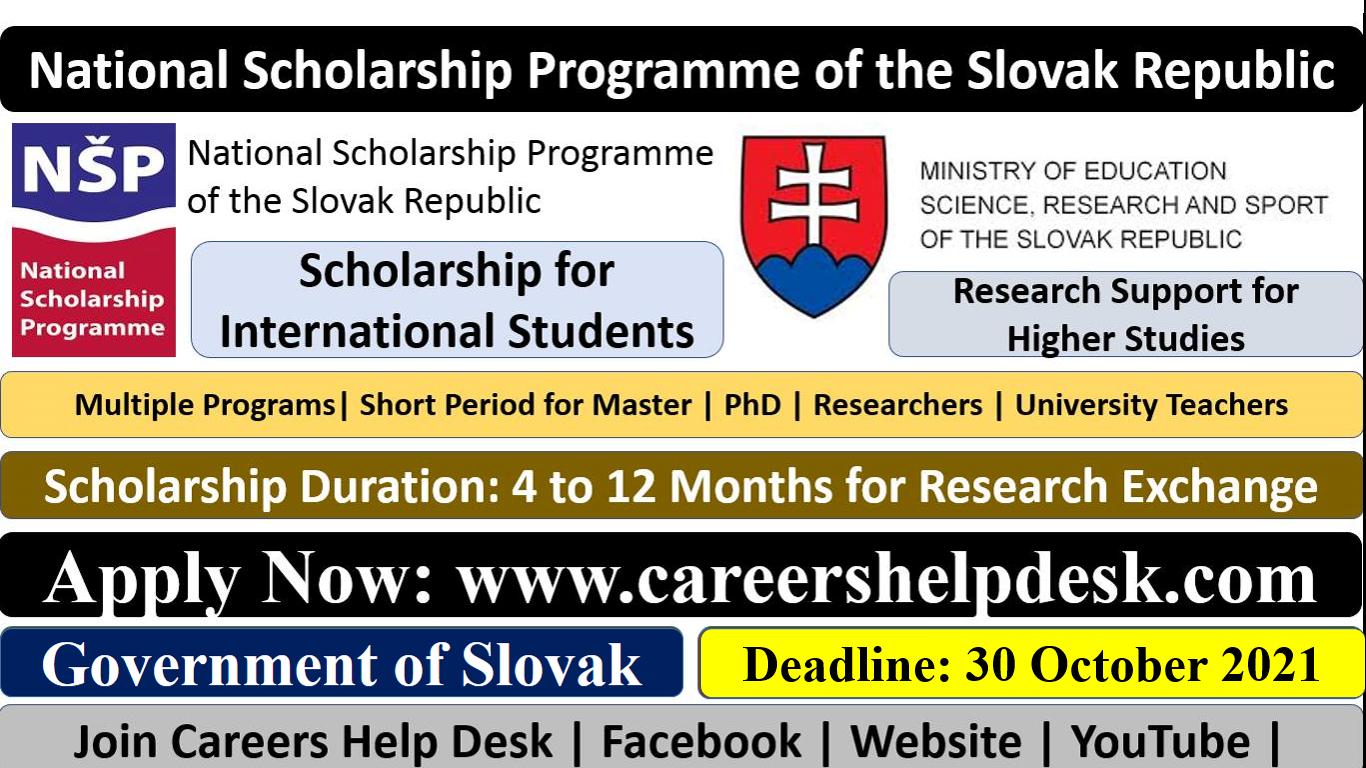 Slovakia Government Scholarship 2022