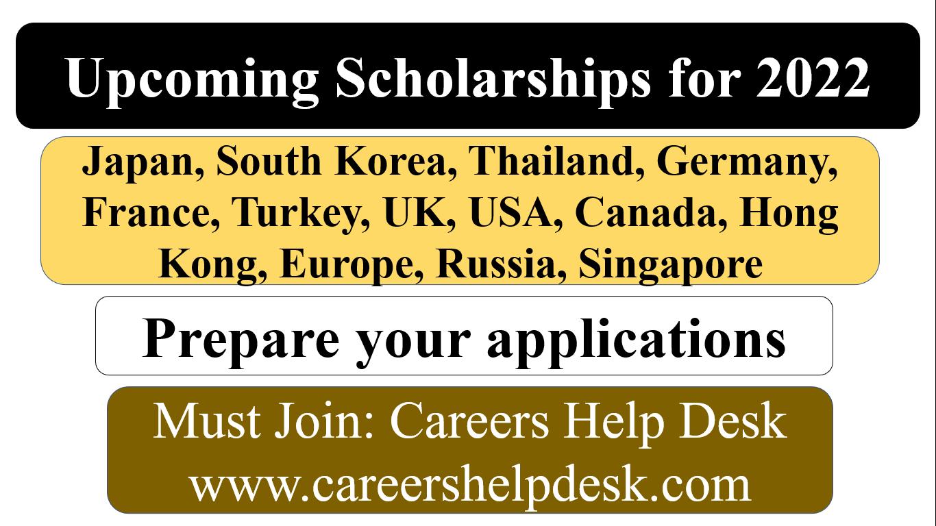 Upcoming Scholarships 2022