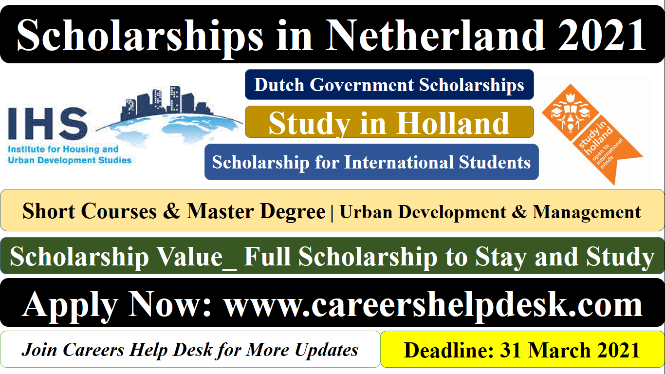 Dutch Government Scholarship 2021