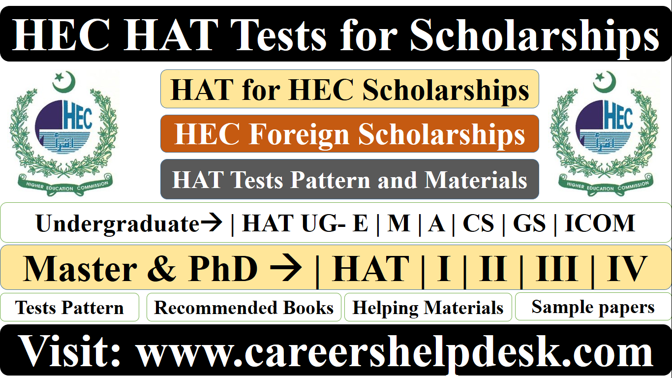HEC HAT tests for Scholarships