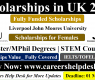 STEM Scholarship for International Students in UK 2021 (Fully Funded)