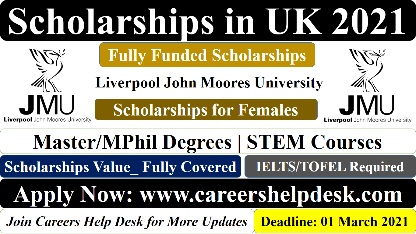 LJMU STEM Scholarships for International Students