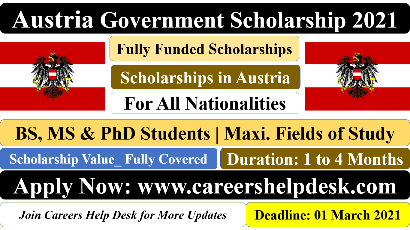 Austria Government Scholarship 2021