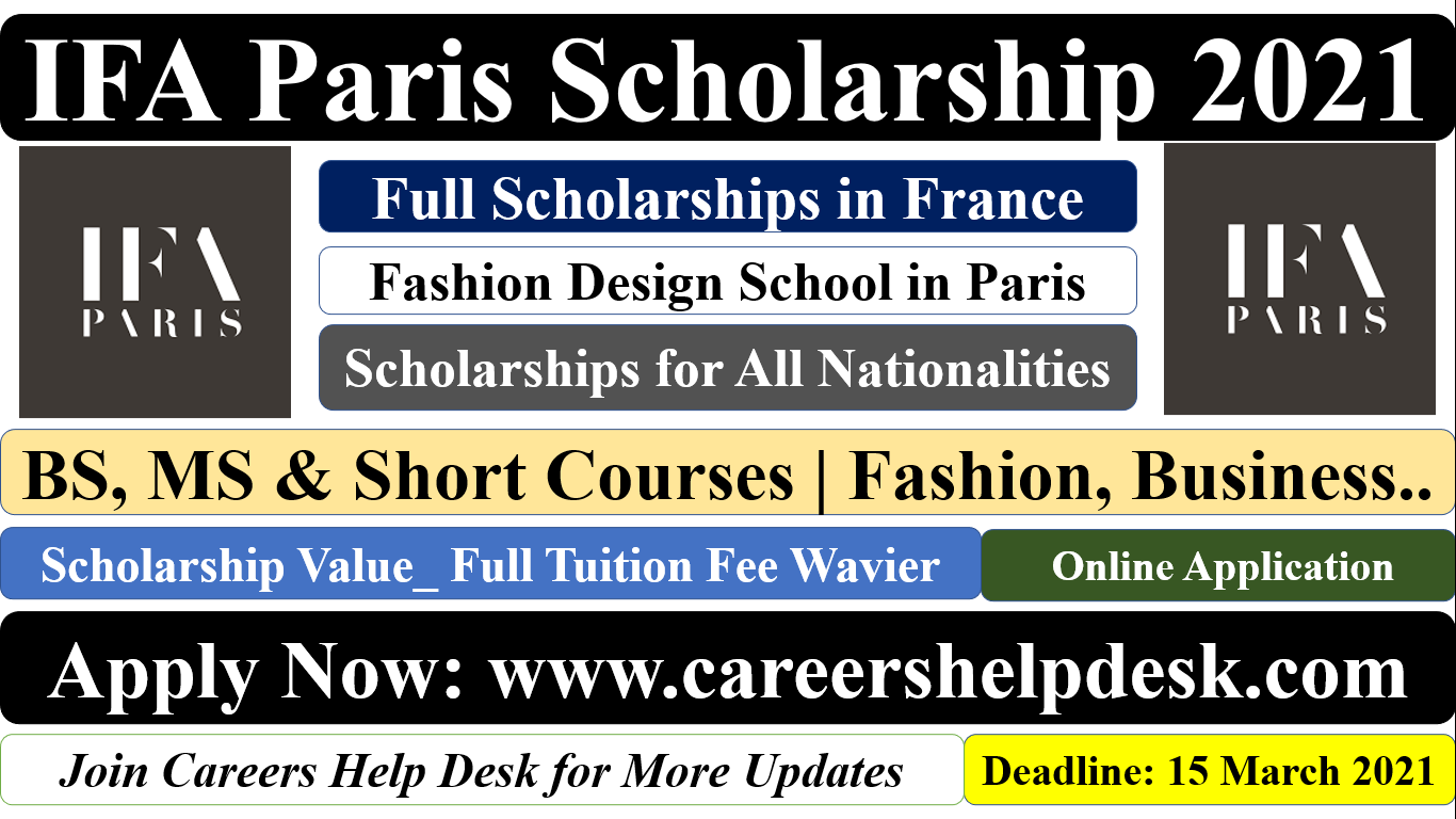 IFA Paris Scholarship in France 2021