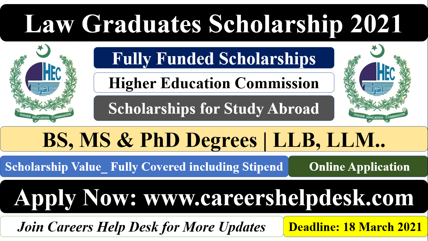 Law Graduates Scholarships 2021
