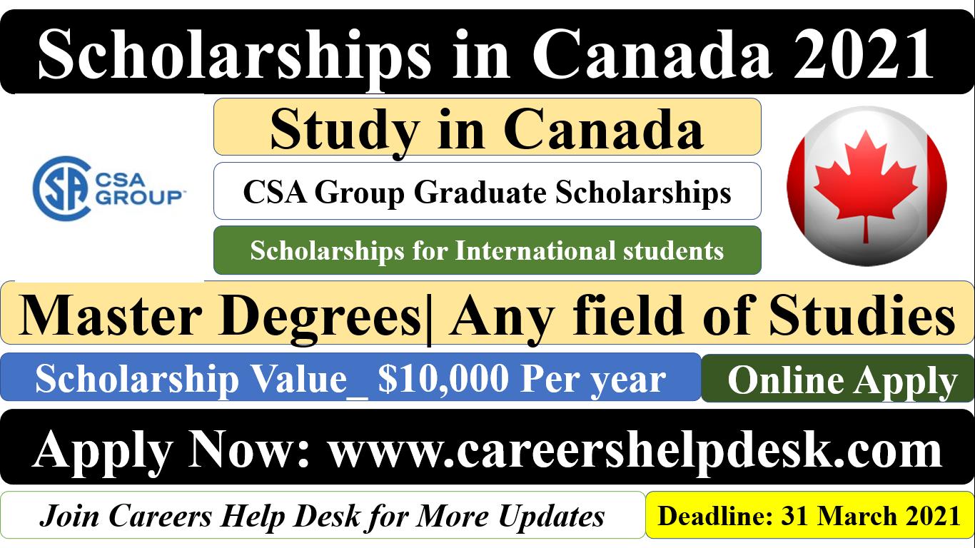 Scholarship in Canada 2021