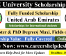 UAE University Scholarship 2021 (Fully Funded)