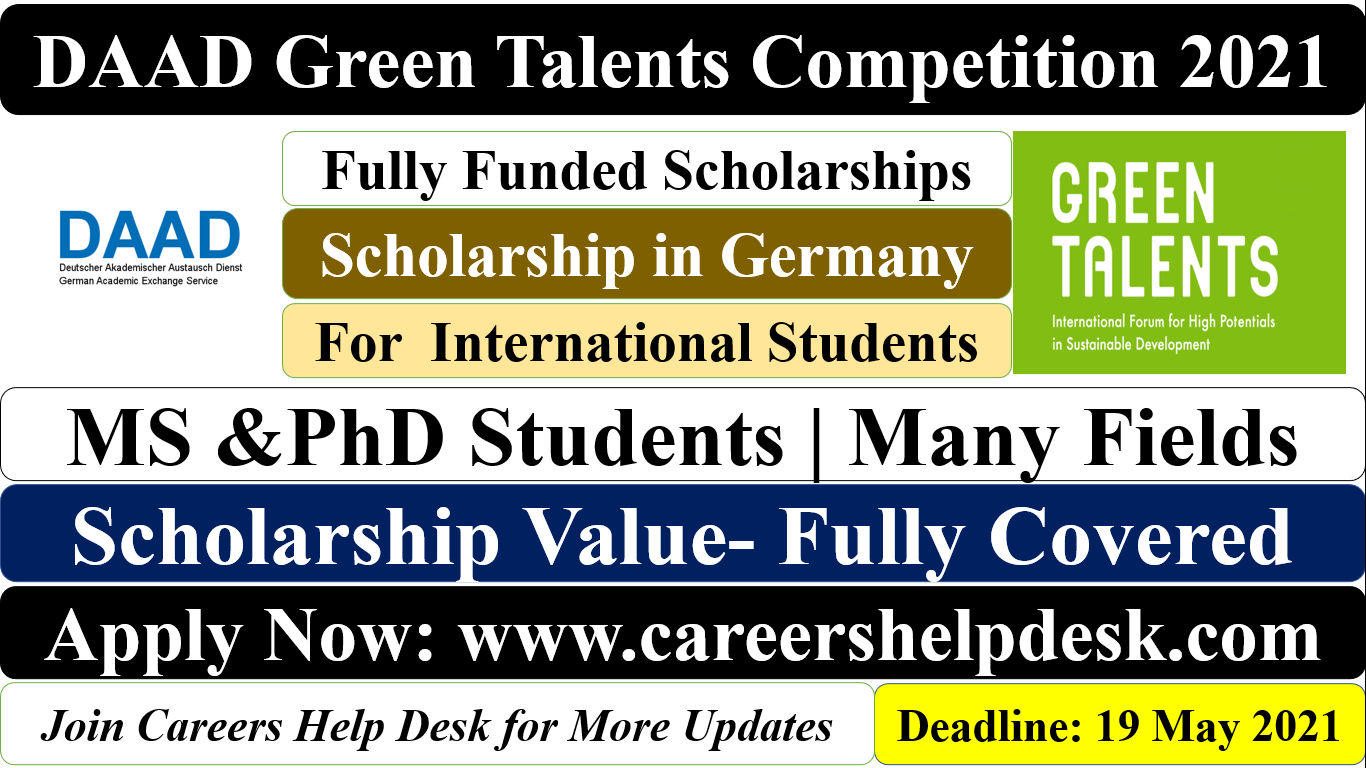 DAAD Green Talents Competition Scholarship 2021