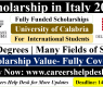 Scholarship in Italy for International Students 2021 (Fully Funded)