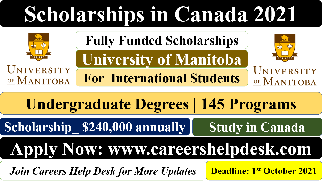 Scholarships in Canada 2021