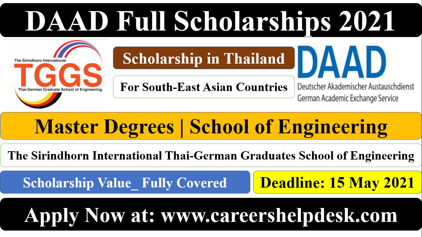 DAAD Full Scholarship at TGG