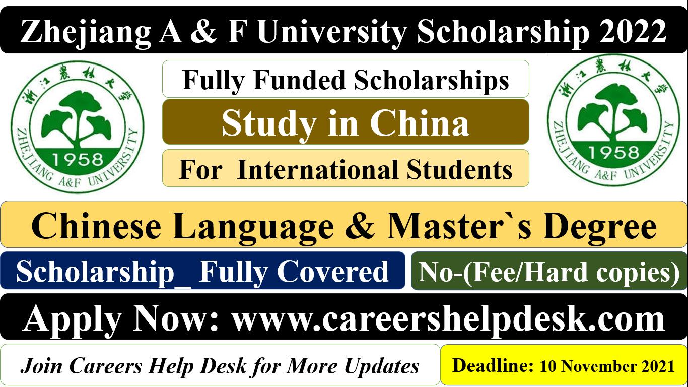 Zhejiang A & F University Scholarship in China