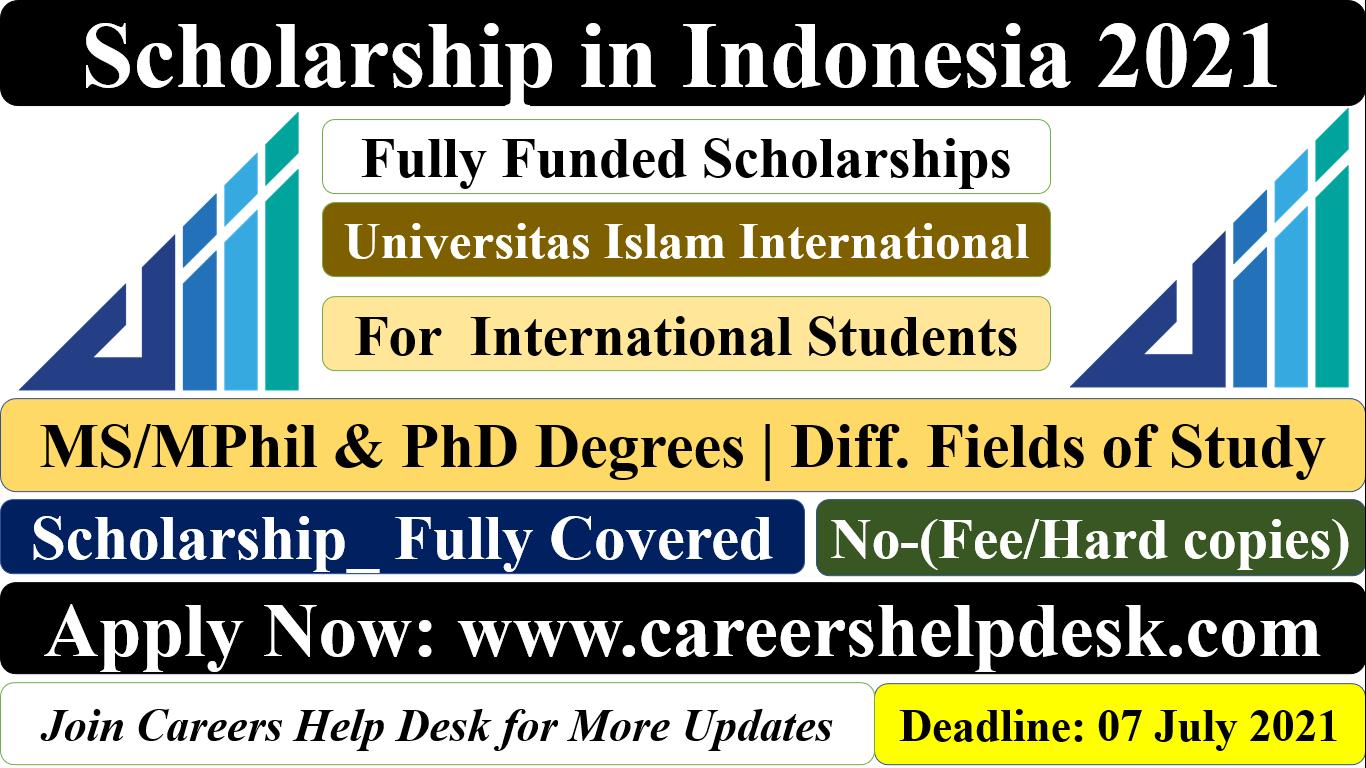 UIII Full Scholarship in Indonesia 2021