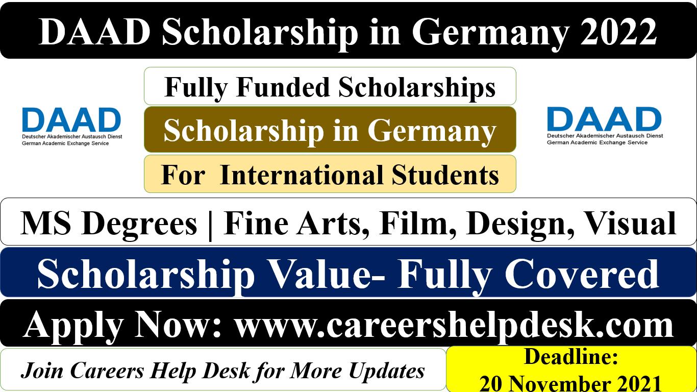 DAAD Scholarship for Fine arts 2022