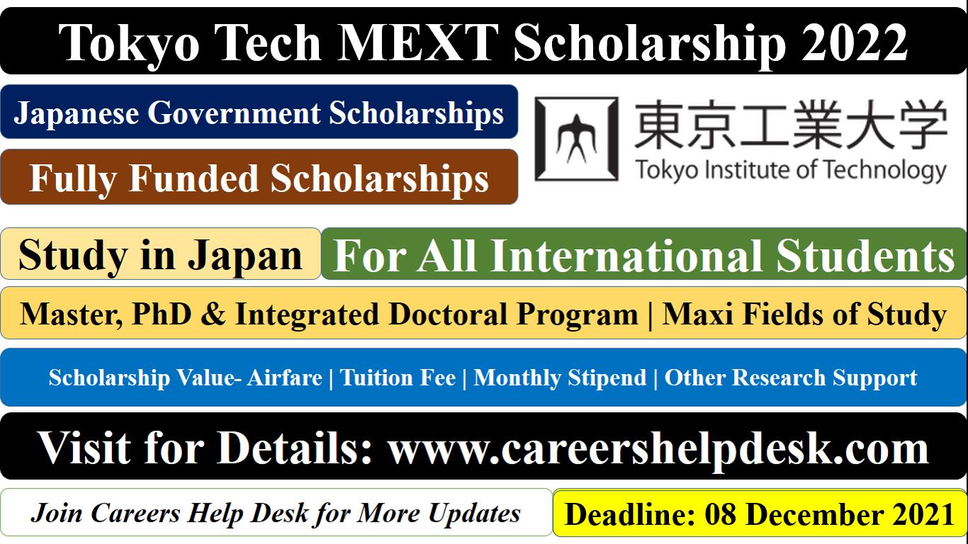 MEXT Scholarship at Tokyo Tech (2)