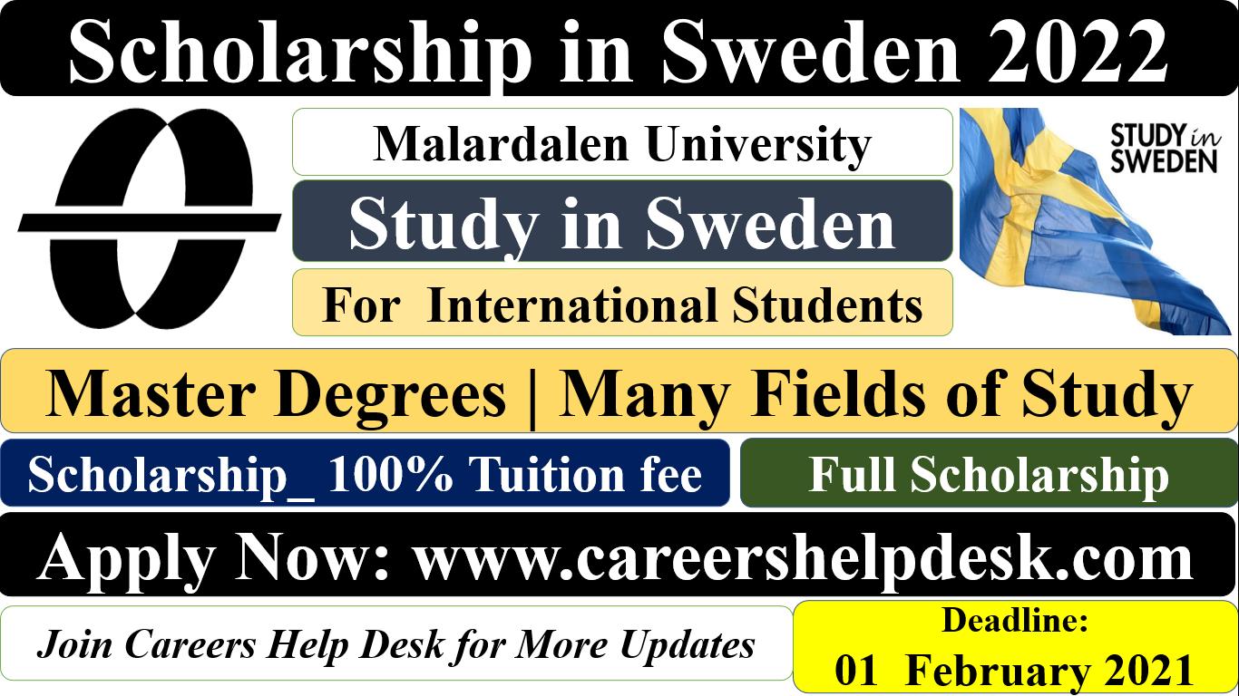MDU Scholarship in Sweden