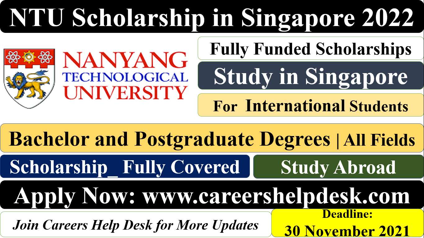 NTU Scholarship in Singapore 2022